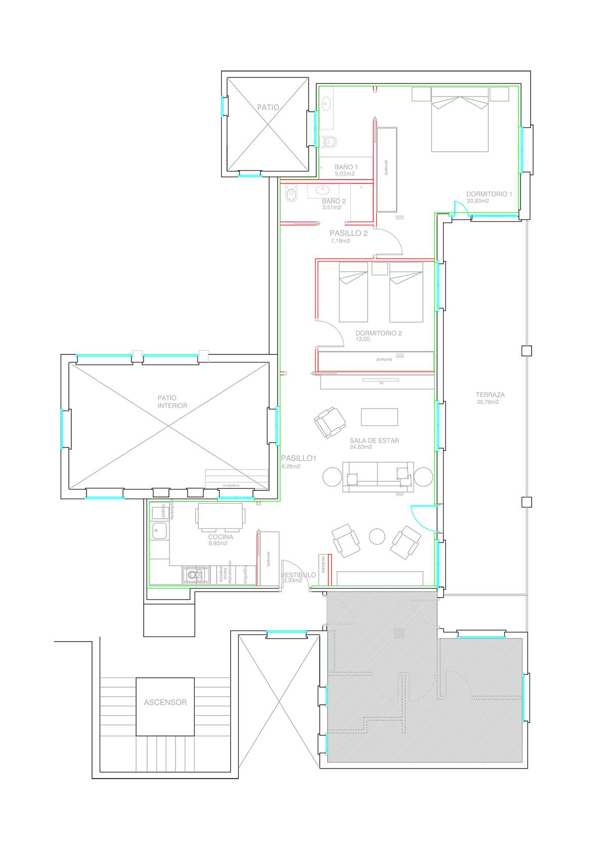Proyecto y obra para cambio de uso de oficinas a vivienda for Cambio de uso de oficina a vivienda